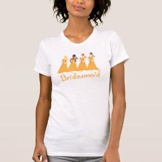 Camiseta de las damas de honor del vestido del