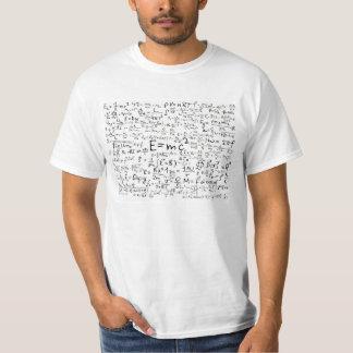 Camiseta de las ecuaciones de la ciencia