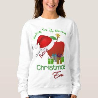 Camiseta de las Felices Navidad del profesor