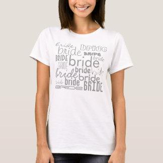 Camiseta de las fuentes del diseño gris del texto