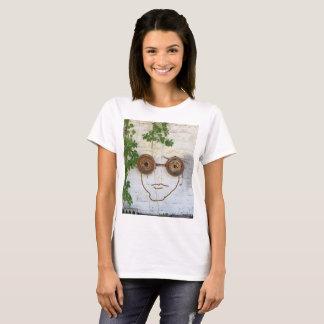 Camiseta de las gafas del individuo loco del loco
