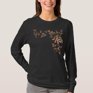 Camiseta de las hojas de otoño de la colina de la