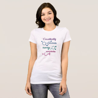 Camiseta de las moléculas de la creatividad