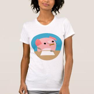 Camiseta de las mujeres bloque del dibujo animado