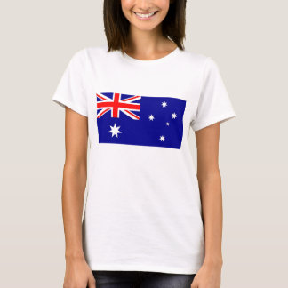 Camiseta de las mujeres con la bandera de