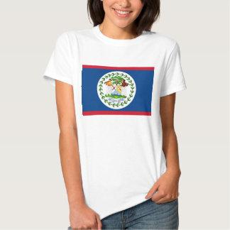 Camiseta de las mujeres con la bandera de Belice