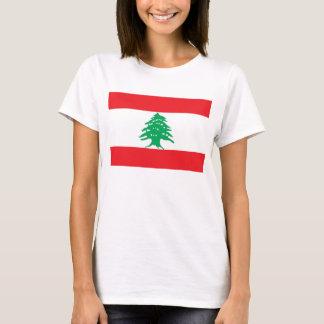 Camiseta de las mujeres con la bandera de Líbano