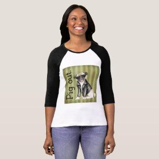Camiseta De las mujeres de Bella de la lona del cerdo