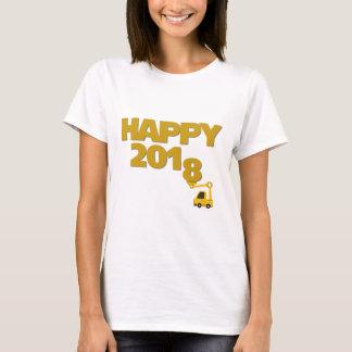 Camiseta de las mujeres de la Feliz Año Nuevo 2018