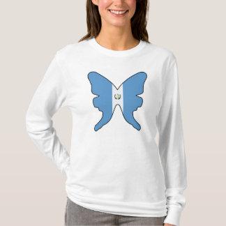 Camiseta de las mujeres de la mariposa de
