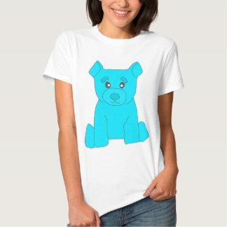 Camiseta de las mujeres del oso de la turquesa