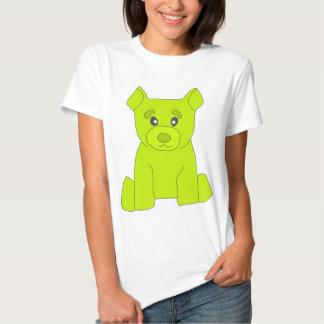 Camiseta de las mujeres del oso del verde de Fluo
