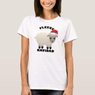 Camiseta de las ovejas de Feliz Navidad del paño