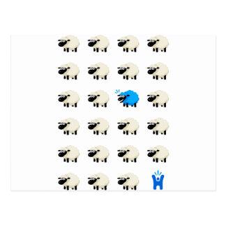 Camiseta de las ovejas - Feliz-yo Postal
