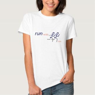 Camiseta de las señoras con el eslogan