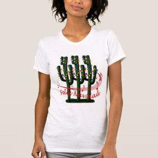 Camiseta de las señoras de Feliz Navidad del árbol