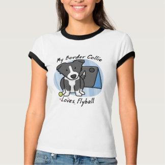 Camiseta de las señoras de Flyball del border