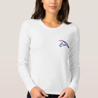 Camiseta de las señoras de la bandera de Cuba -