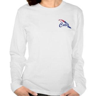 Camiseta de las señoras de la bandera de Cuba - et