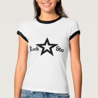 Camiseta de las señoras de la estrella del rock