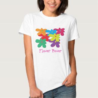 Camiseta de las señoras del flower power
