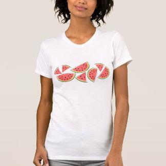 Camiseta de las señoras del grupo de la sandía