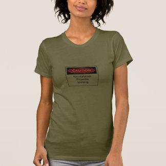 Camiseta de las señoras el vomitar del proyectil