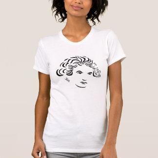Camiseta de las señoras rosadas Beethoven