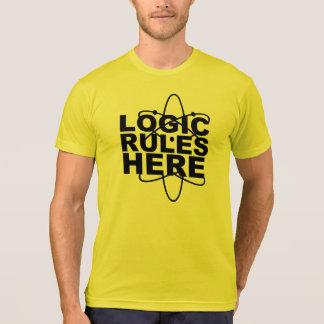 Camiseta De LÓGICA de las REGLAS la ciencia AQUÍ inspiró a