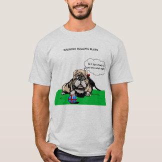 Camiseta de los azules del dogo del cumpleaños