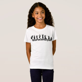 Camiseta de los bailarines de Bharatanatyam de los