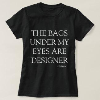 camiseta de los bolsos del diseñador