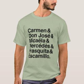 Camiseta de los caracteres de Carmen