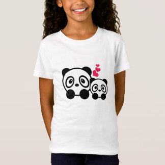 Camiseta de los chicas de los pares de la panda