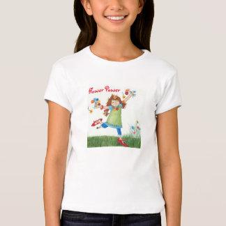 Camiseta de los chicas del flower power