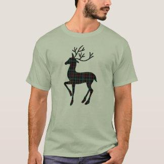 Camiseta de los ciervos de la tela escocesa de