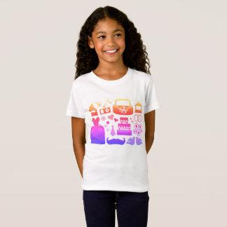 Camiseta de los diseñadores de los chicas con los