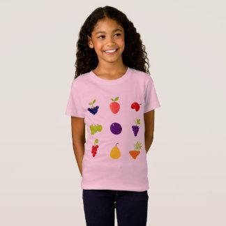 Camiseta de los diseñadores para la niña/la fruta