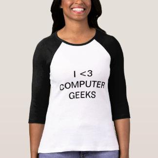 Camiseta de los frikis del ordenador del corazón I