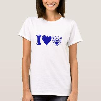 Camiseta de los gatos monteses del corazón de