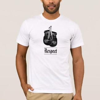 Camiseta de los guantes de boxeo del respecto