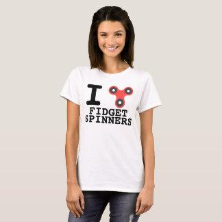 Camiseta de los hilanderos de la persona agitada