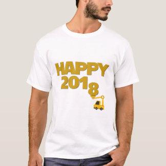 Camiseta de los hombres de la Feliz Año Nuevo 2018