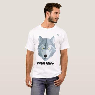 Camiseta de los hombres     - lobo solitario -