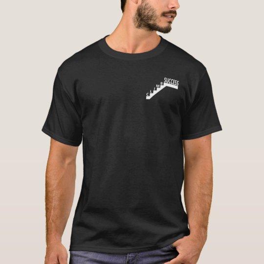Camiseta de los hombres negros del ÉXITO de la