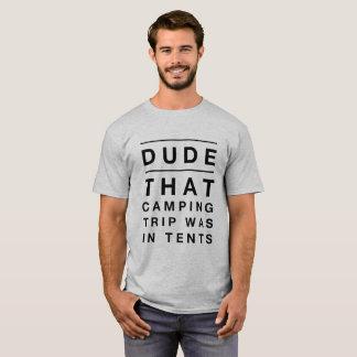 Camiseta de los hombres - tipo que la acampada