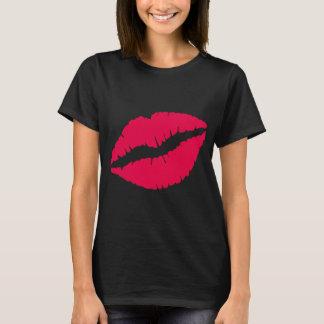 Camiseta de los labios del beso