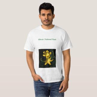 Camiseta de los lirios del glaciar de los hombres