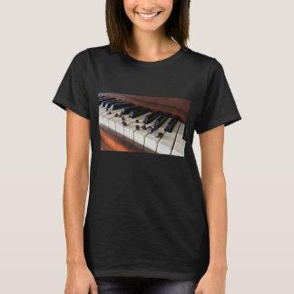 Camiseta de los microprocesadores del piano y de