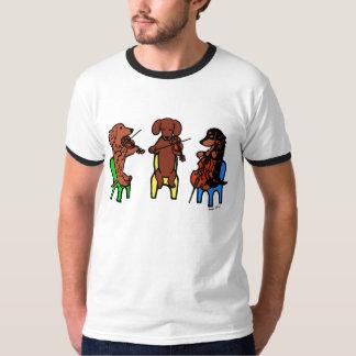 Camiseta de los músicos del trío de secuencia del